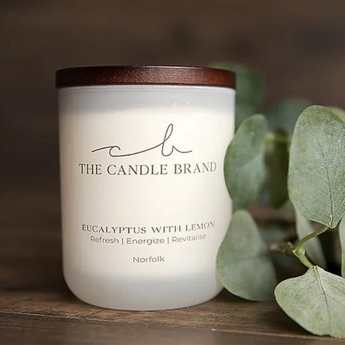 The Candle Brand <br> 35 hour Candle <br> Eucalyptus & Lemon