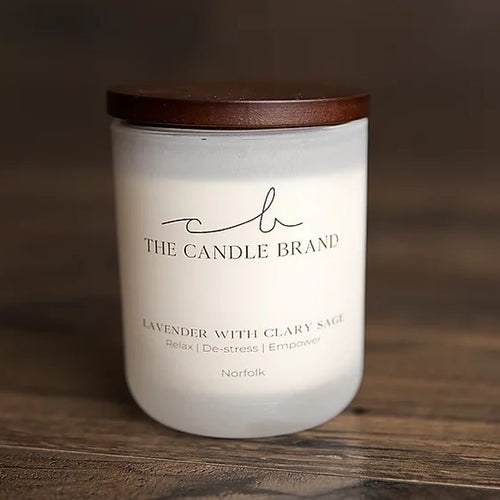 The Candle Brand <br> 35 hour Candle <br> Lavender with Clary Sage