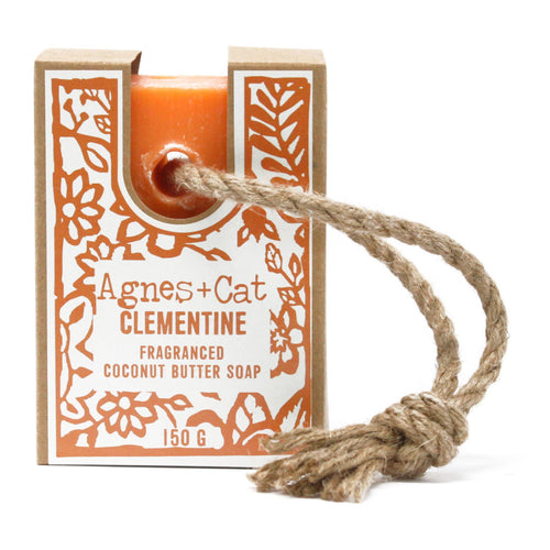 Agnes & Cat Soap on a Rope - Clementine