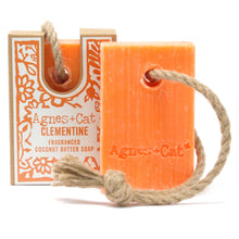 Load image into Gallery viewer, Agnes & Cat Soap on a Rope - Clementine