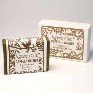 Agnes & Cat Coconut Butter Soap - Coffee & Walnut
