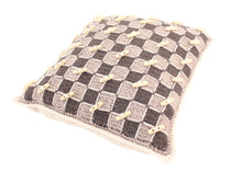 Load image into Gallery viewer, Checker Board Knitted Cushion
