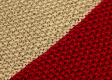 Load image into Gallery viewer, Diagonal Dark Red and Grey Knitted Cushion