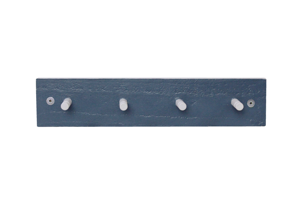 Four Peg Coat Rack - Dark Blue & Grey