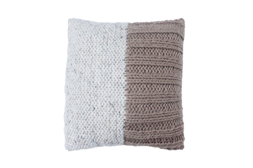 Half Toned Stripe Knitted Cushion