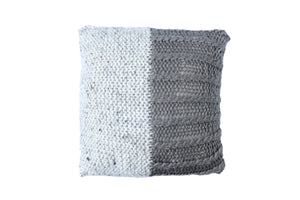 Half Toned Cable Knitted Cushion