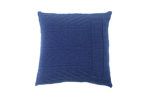 'Gansey' Dark Blue Knitted Cushion
