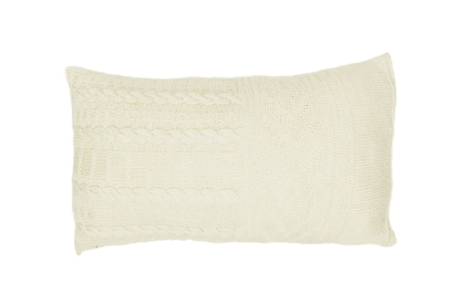 'Gansey' Style Ivory Knitted Cushion