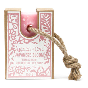 Agnes & Cat Soap on a Rope - Japanese Bloom
