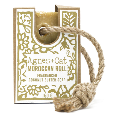 Agnes & Cat Soap on a Rope - Moroccan Roll