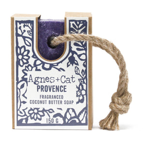 Agnes & Cat Soap on a Rope - Provence