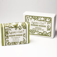 Load image into Gallery viewer, Agnes & Cat Coconut Butter Soap - Rhubarb Rhubarb