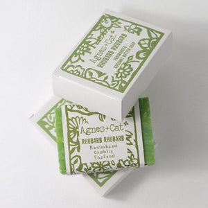 Agnes & Cat Coconut Butter Soap - Rhubarb Rhubarb