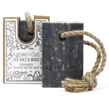 Load image into Gallery viewer, Agnes & Cat Soap on a Rope - Sea Salt & Moss