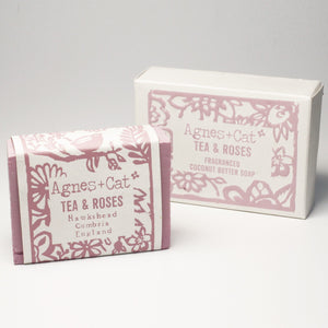 Agnes & Cat Coconut Butter Soap - Tea & Roses