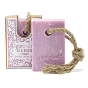 Agnes & Cat Soap on a Rope - Tea & Roses