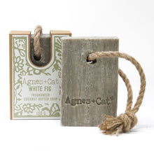 Load image into Gallery viewer, Agnes & Cat Soap on a Rope - White Fig