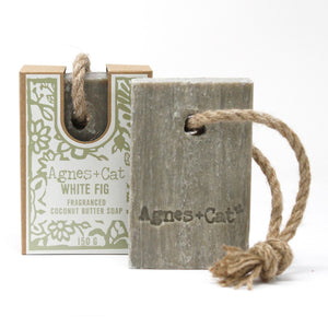 Agnes & Cat Soap on a Rope - White Fig