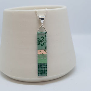 Hand Painted Pendant - Mid Green