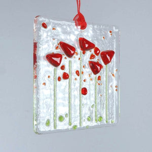 Glass Poppy Hanger <br> Greetings Card