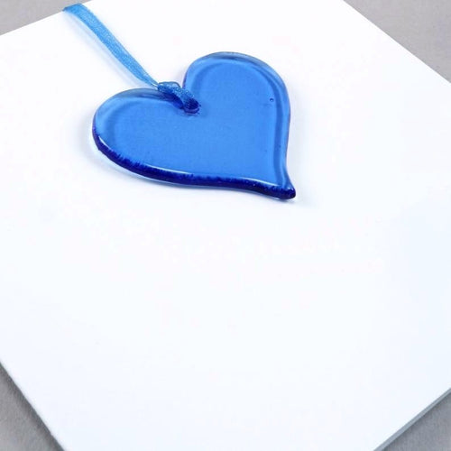 Blue Glass Heart <br> Greetings Card