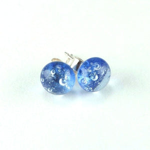 Blue Bubble <br> Fused Glass Earrings