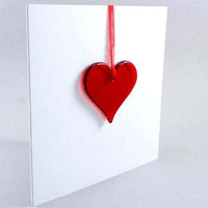 Red Glass Heart <br> Greetings Card