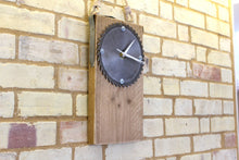 Load image into Gallery viewer, Wall Clock - Industrial Saw Face & Painter's Plank