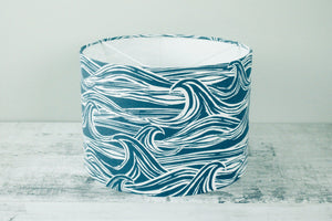 30cm Lampshade <br> Mid-Century Scandi <br>Surf Blue