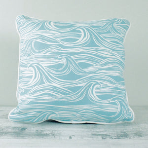 Fabric Cushion Aqua Surf