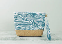 Load image into Gallery viewer, Blue Surf Print Toiletry Bag