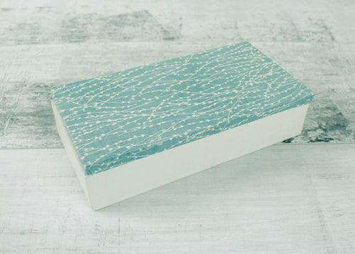 Handmade Keepsake Box <br> Teal & Pale Grey
