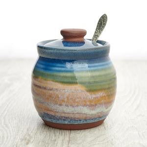 Handmade Condiment Pot - Summer Tide