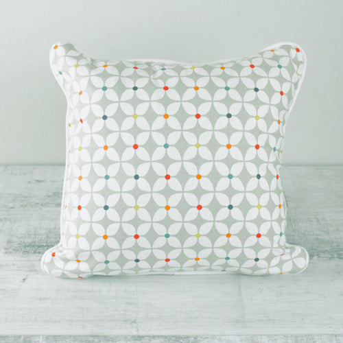 Fabric Cushion Paintbox Abstract Flower