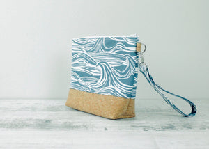 Blue Surf Print Toiletry Bag