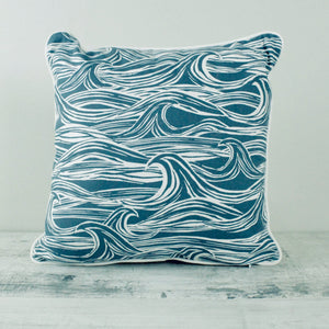Fabric Cushion Blue Surf