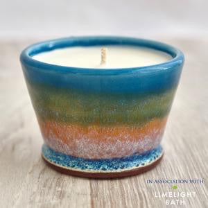 Handmade Kitchen Candle - Rosemary & Bay - Summer Tide
