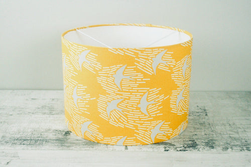 30cm Lampshade <br> Mid-Century Scandi <br>Whitehaven Yellow