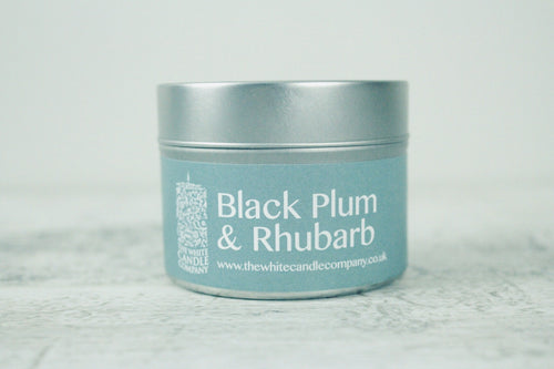 Black Plum & Rhubarb <br>100g Candle Tin