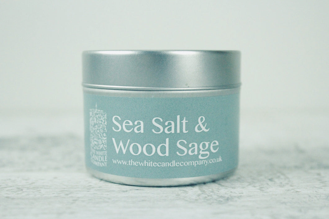 Sea Salt & Wood Sage <br>100g Candle Tin
