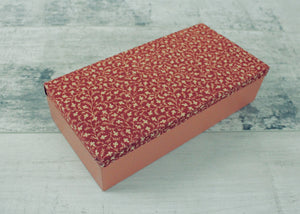 Handmade Keepsake Box <br> Red and Terracotta
