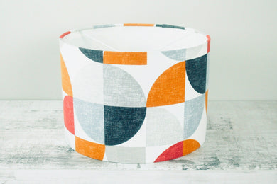 30cm Lampshade <br> Retro Geometric <br>Warm Tones