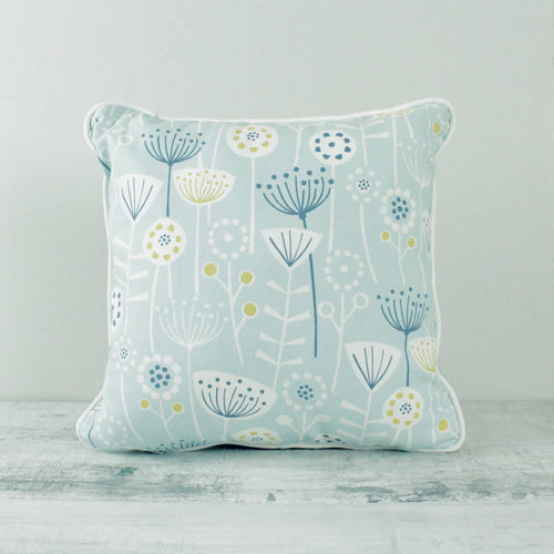 Fabric Cushion Mid-Century Scandi - Aqua