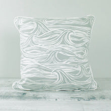 Load image into Gallery viewer, Fabric Cushion Grey Surf