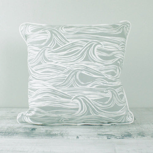 Fabric Cushion Grey Surf