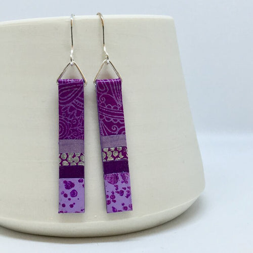 Hand Painted Earrings - Purple & Violet