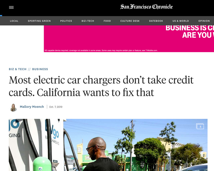 Pay Energy core Strength is to take credit card for EV charging stations. Read Article:  Most electric car chargers don't take credit cards. California wants to fix that