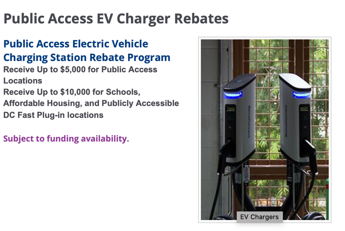 Anaheim Public Utilities Public Access EV Charger Rebates
