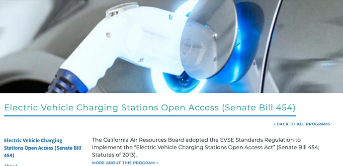 Electric Vehicle Charging Stations Open Access (Senate Bill 454)
