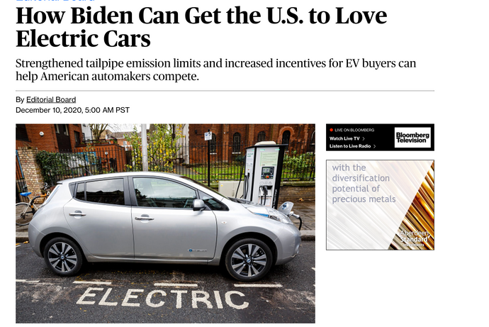 How Biden Can Get the U.S. to Love Electric Cars